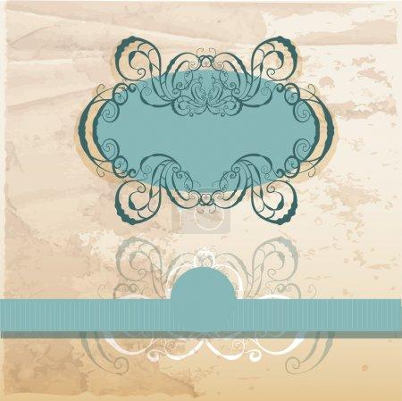 Illustration pour Illustration vectorielle cadre vintage - image libre de droit