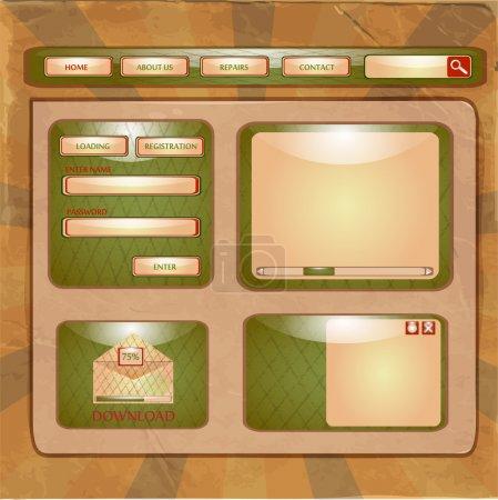Illustration pour Illustration vectorielle du modèle de conception de site Web - image libre de droit