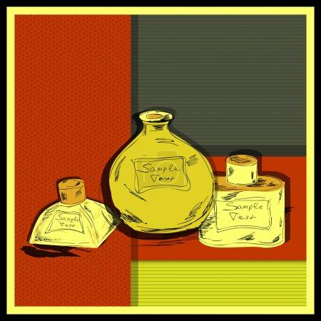 Illustration pour Illustration vectorielle de collection de parfum - image libre de droit