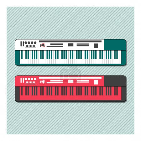 Photo for Synthesizers set vector illustration - Royalty Free Image