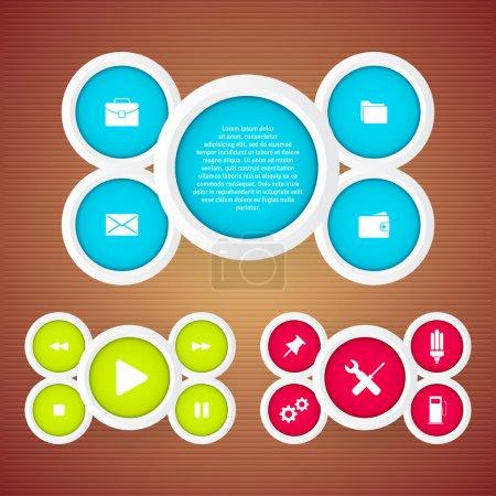 Illustration pour Jeu de boutons web illustration vectorielle - image libre de droit