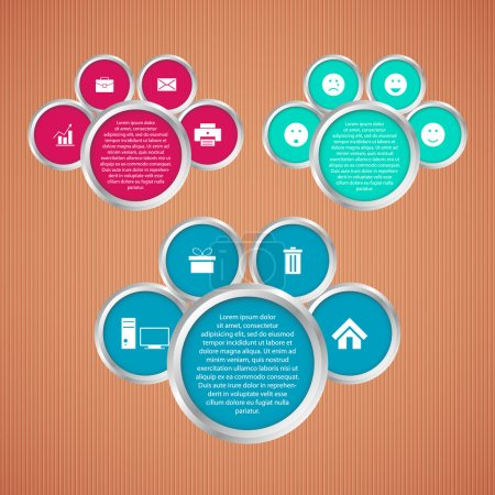Illustration for Vector set of web buttons vector illustration - Royalty Free Image
