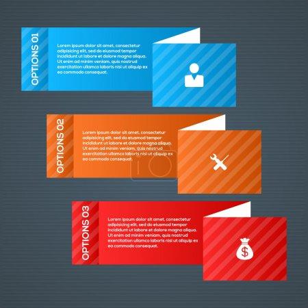 Illustration for Modern Business step options vector illustration - Royalty Free Image