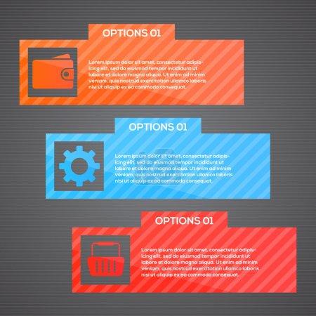 Vector web template - webpage vector illustration