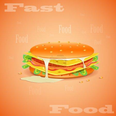 tasty hamburger vector illustration