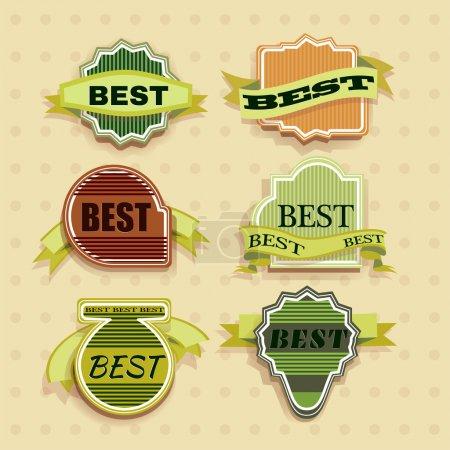 Vintage Labels set of trendy designs. Vector illustration
