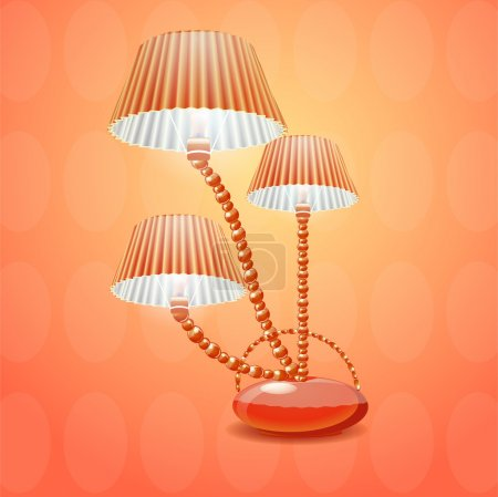 Illustration for Lamp with shade. Vector illustration - Royalty Free Image