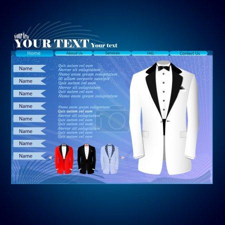 Illustration pour Modèle de conception de site Web pour les concepteurs. Illustration vectorielle . - image libre de droit