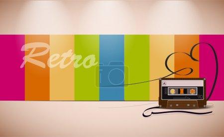 Illustration pour Retro Media. Illustration vectorielle - image libre de droit
