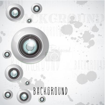 camera lens background vector illustration