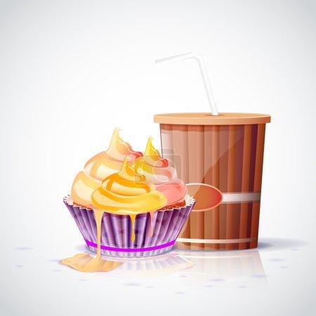 Illustration pour Illustration vectorielle de thé ensemble partie - image libre de droit
