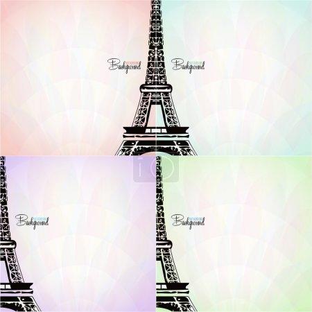 vector card with eiffel tower
