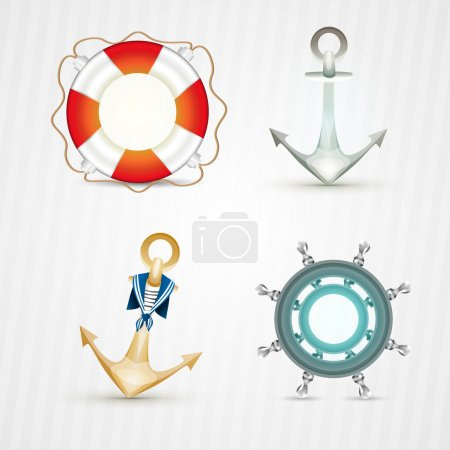 Set of Nautical objects