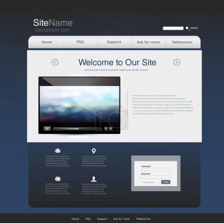 Illustration pour Modèle de conception de site Web - image libre de droit
