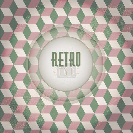 Fashion zigzag pattern in retro colors. Vector illustration