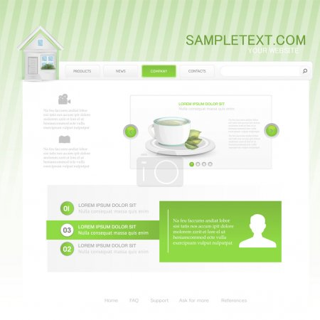 Illustration pour Modèle de conception de site Web vectoriel pour café ou restaurant - image libre de droit
