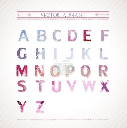 Color alphabet. Vector illustration