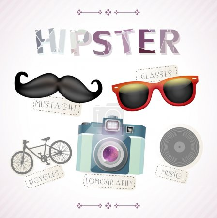 Hipster elements vector illustration