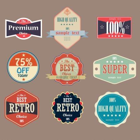 Illustration pour Collection de labels Vintage de haute qualité - image libre de droit