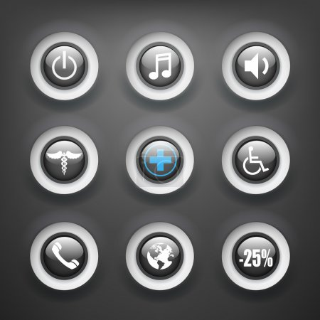 Set of various vector icons