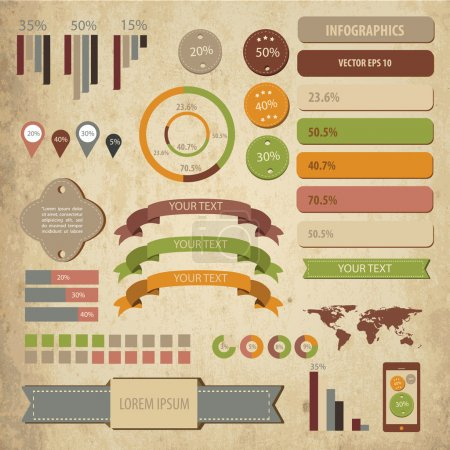 Illustration pour Business infographie éléments vectoriels illustration - image libre de droit