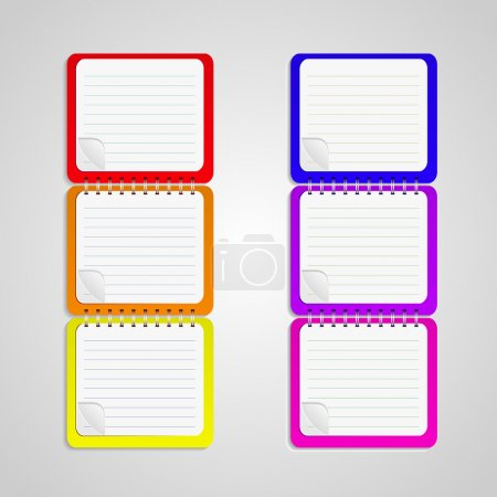 Illustration for Set of vector notebook - Royalty Free Image