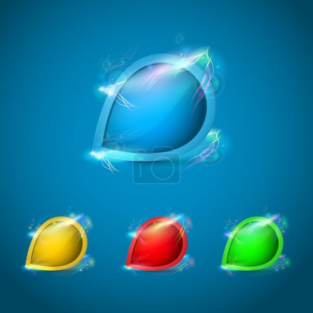 Illustration pour Illustration vectorielle de boutons brillants - image libre de droit