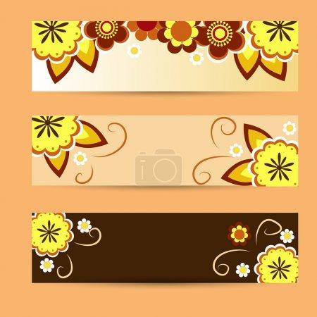 Illustration for Vector floral background design - Royalty Free Image