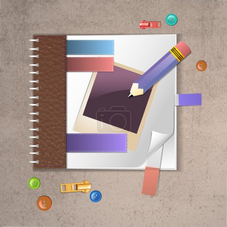 Illustration for Notebook template vector illustration - Royalty Free Image