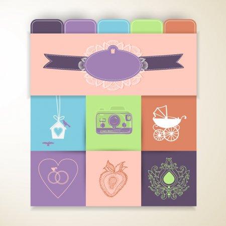 elegant card vector illustration