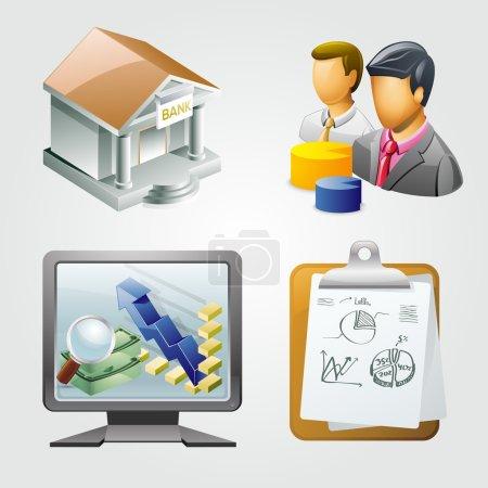 Geschäftssymbole als Vektorillustration