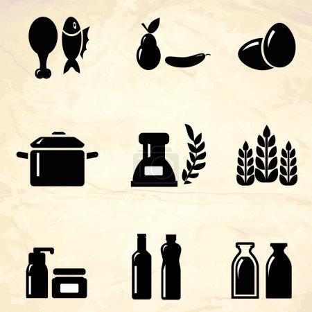 Produktsymbole. Vektorillustration