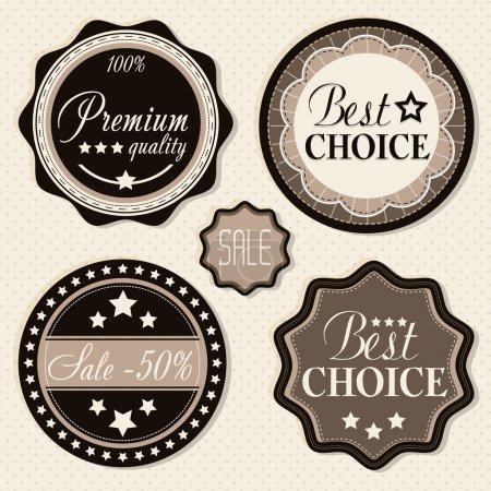 Illustration for Retro vintage badges and labels. - Royalty Free Image