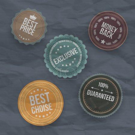 Illustration pour Badges et étiquettes vintage rétro . - image libre de droit