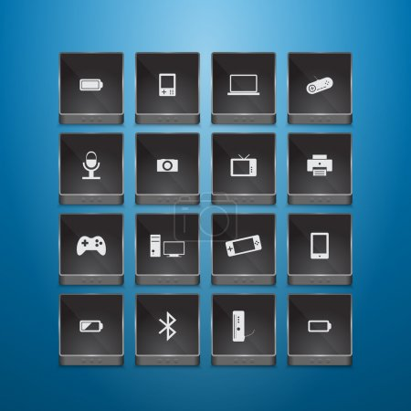 Technology icons vector illustration
