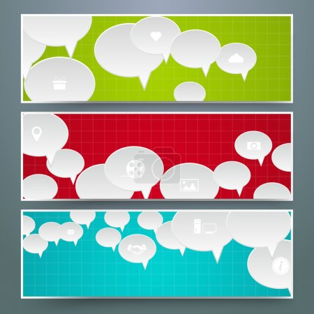 Illustration for Speech bubbles Design vector illustration - Royalty Free Image