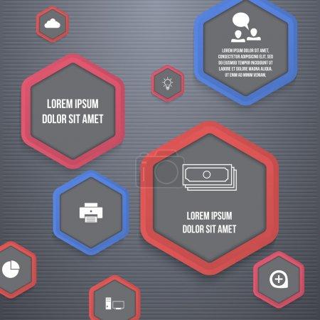 Illustration pour Illustration vectorielle d'icônes d'entreprise - image libre de droit