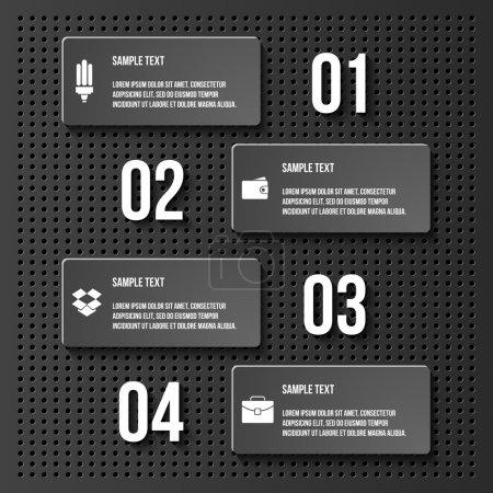 Illustration pour Étapes processus flèches. illustration vectorielle - image libre de droit