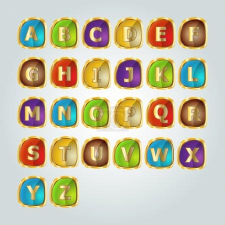 Alphabet set.  vector illustration