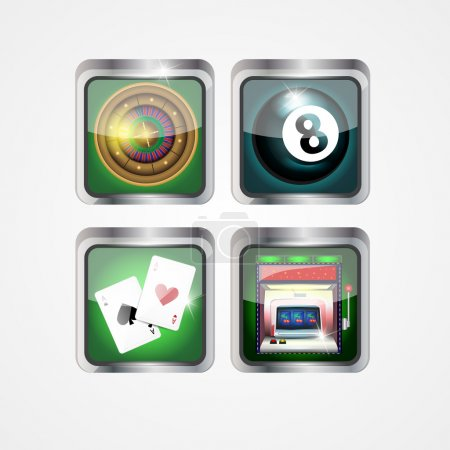 Casino icons vector illustration