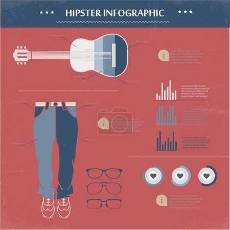 Illustration for Hipster infographic.  vector illustration - Royalty Free Image