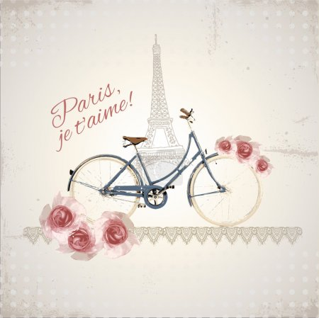 Romantic postcard from Paris