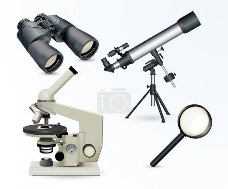 Illustration pour Illustration vectorielle des équipements optiques - image libre de droit