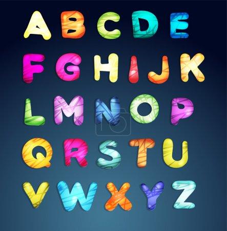 Illustration pour Illustration vectorielle alphabet dessin animé - image libre de droit