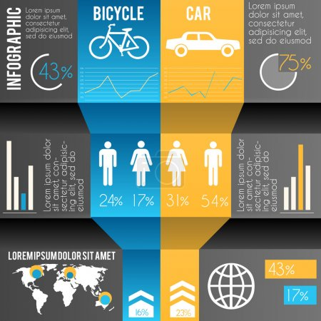 infografías ilustración del transporte