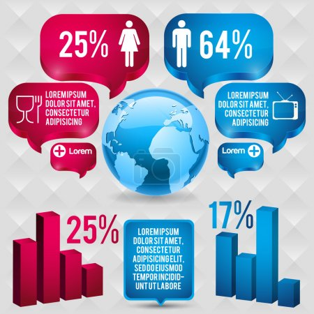 Illustration for Infographics with a population - Royalty Free Image