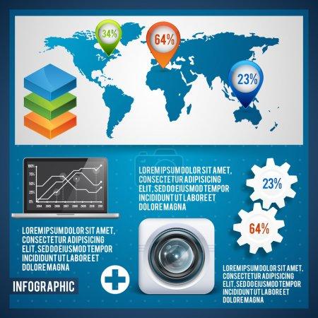 Set elements of infographics. Vector