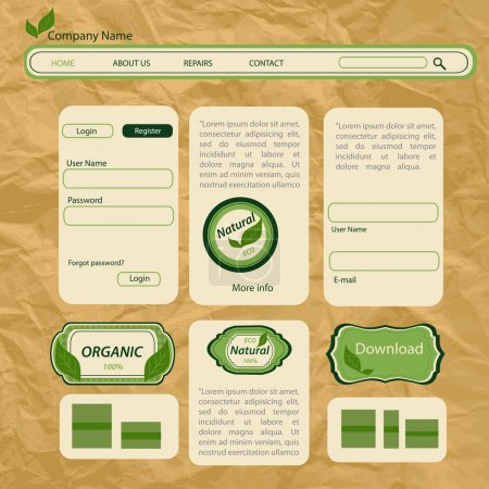 Eco style vector web template