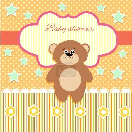 Illustration pour Vecteur fond mignon avec ours . - image libre de droit
