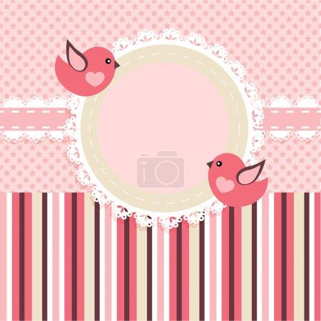 Illustration pour Cadre vectoriel avec oiseaux . - image libre de droit